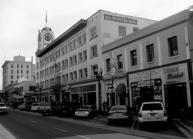 Fourth Street in downtown Santa Ana, January 2011