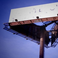 blank billboard purple