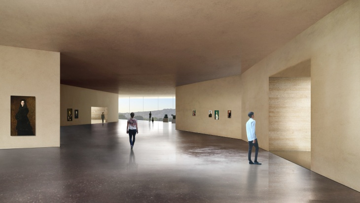 A rendering of LACMA's makeover.