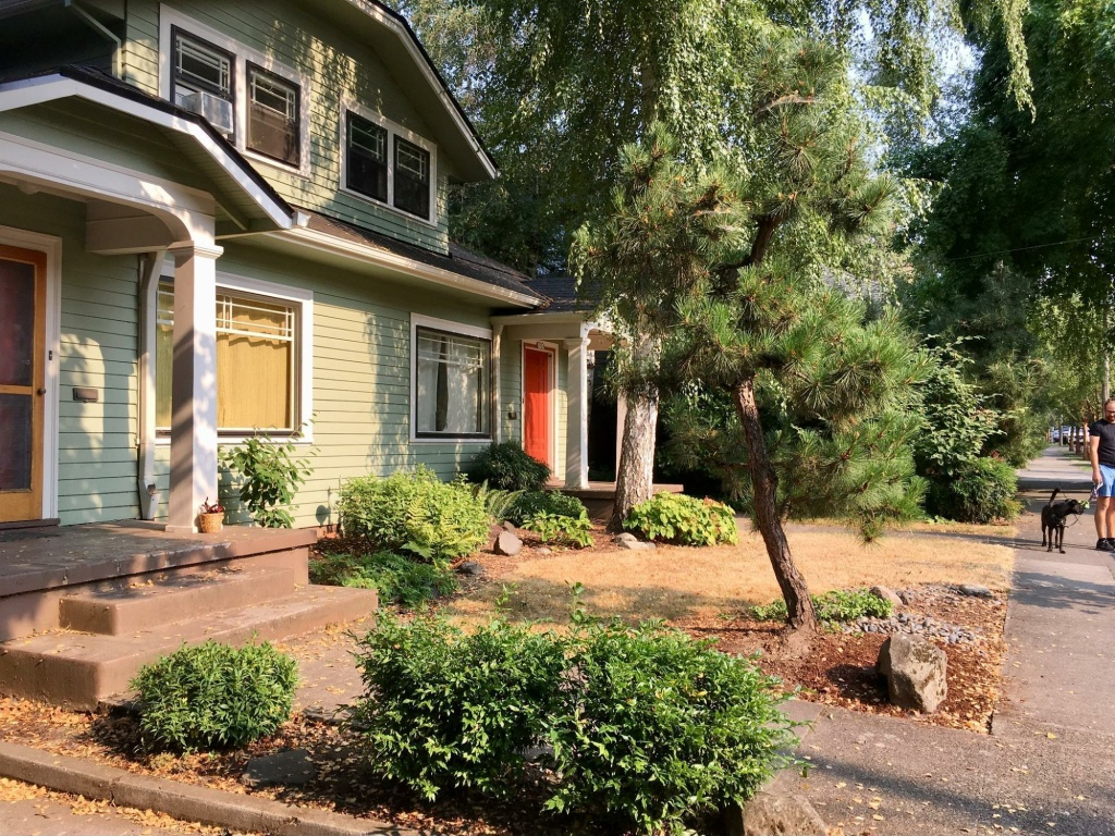 Oregon's Legislature passed a bill that would allow duplexes, like this one in Portland, in areas zoned for single-family housing in cities with more than 10,000 people.