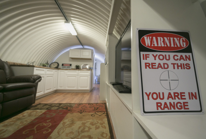 In this Monday, Aug, 12, 2013 photo, the interior of an Atlas Survival shelter made of galvanized corrugated pipe is showcased at the plant in Montebello, Calif. The City Council in Menifee in Riverside County has approved a controversial ordinance that will allow residents to build underground bunkers on their properties. Survivalist types spend big money on these state-of-the-art, luxury shelters. But city officials are concerned about toxins in the soil, earthquakes, structural stability and whether police and first responders will be safe responding to emergency calls coming from people hiding out underground. Plus, they say, underground rooms could conceal criminal activity, such as drug manufacturing.