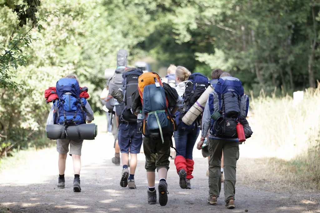 An image of people hiking.