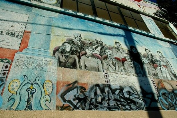 An East Hollywood mural painted in memory of the Armenian genocide, February 2007