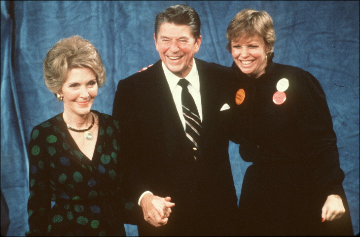 Nancy Reagan attends a celebration held in honor of Ronald Reagan at the Ronald Reagan Presidential Library on Feb. 6, 2011, in Simi Valley, California.