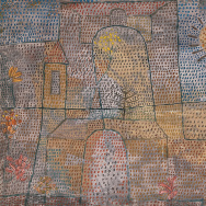 Plants in the Courtyard, 1932; Paul Klee (Swiss, 1879-1940); Oil and gouache on heavy wove paper mounted (not by the artist) on board sheet.