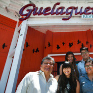 Fernando Lopez, left, his children Elizabeth, Bricia, Fernando, and Paulina Lopez, and wife Maria Monterrubio own Oaxacan restaurant, Guelaguetza.