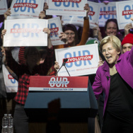 Bernie Sanders And Elizabeth Warren Hold Progressive Political Rally In Boston