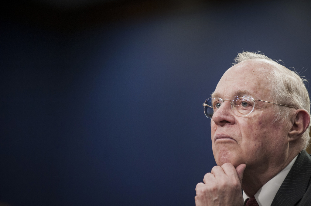 Justice Anthony Kennedy, seen here during congressional testimony in 2015, has played a pivotal role on the Supreme Court since he was sworn in 30 years ago.
