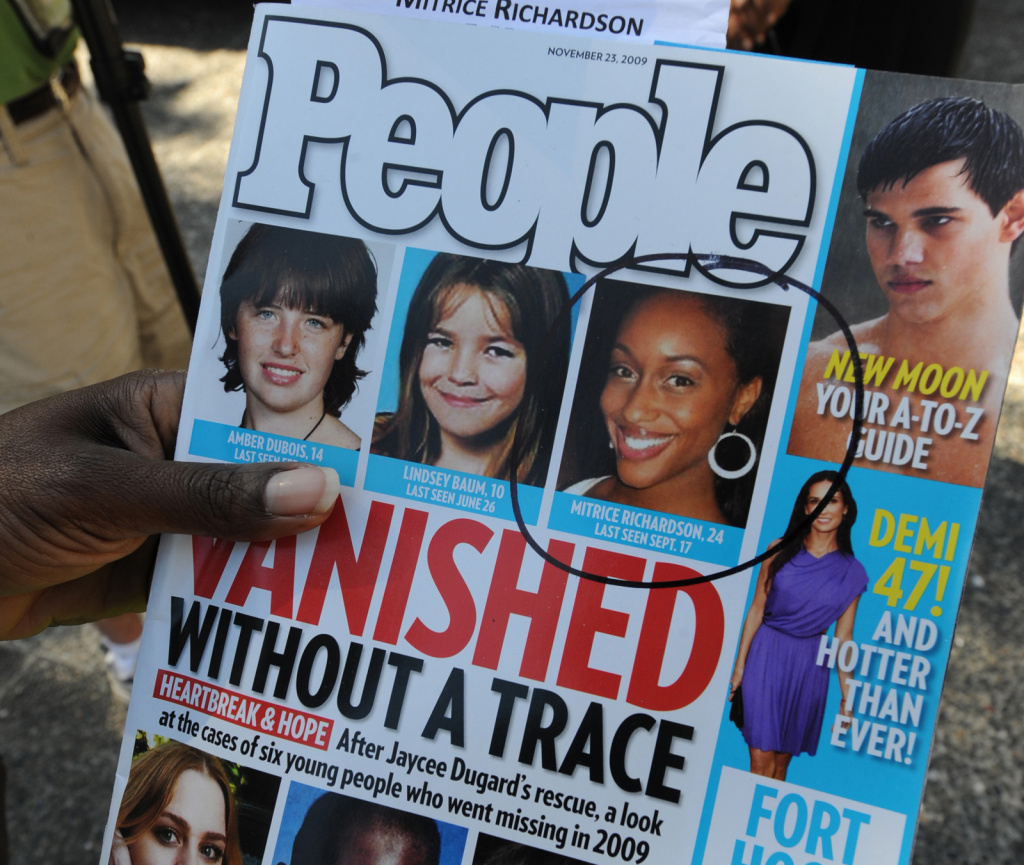 File: A copy of People Magazine containing a story about missing Los Angeles girl Mitrice Richardson in L.A. on March 16, 2010.