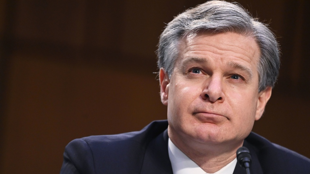 FBI Director Christopher Wray testifies on Tuesday before the Senate Judiciary Committee about the Jan. 6 insurrection at the Capitol.