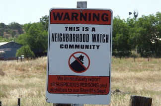 A neighborhood watch sign.