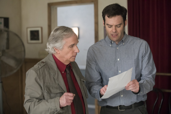 Bill Hader with Henry Winkler