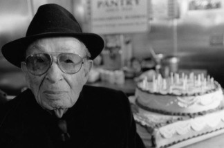 Off-Ramp turns five years old this month. One of our heroes is Robbie Eisenberg, who died in 2003. He turned 101 in 1999, celebrating with a big cake at The Pantry, and was still selling zippers in downtown LA until he was 103.