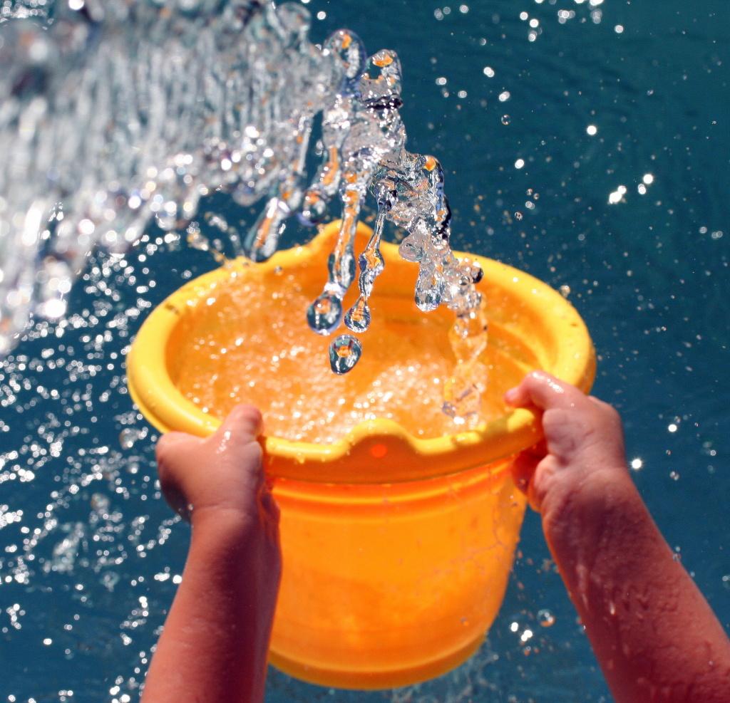 drought water bucket