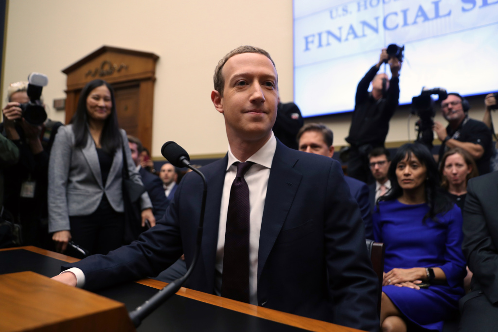 Facebook co-founder and CEO Mark Zuckerberg arrives to testify before the House Financial Services Committee on Capitol Hill October 23, 2019 in Washington, DC.