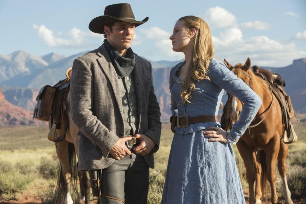 James Marsden and Evan Rachel Wood in