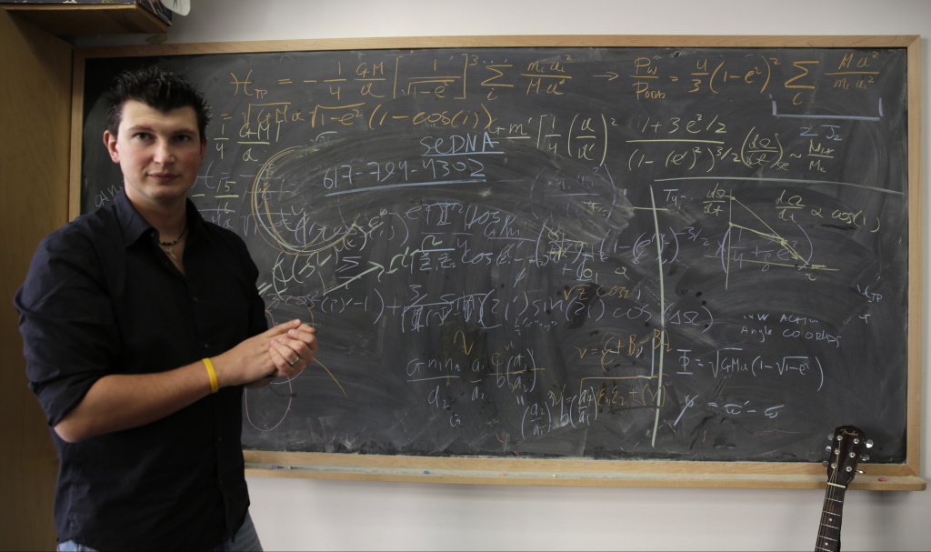 California Institute of Technology scientist Konstantin Batygin, Assistant Professor of Planetary Science comments on his research at his office in Pasadena, Calif., on Wednesday, Jan. 20, 2016.  Scientists reported Wednesday, they finally have