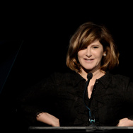 "BEVERLY HILLS, CA - MARCH 21:  Honoree Amy Pascal, Co-chairman, Sony Pictures Entertainment speaks at ""An Evening"" benifiting The Gay & Lesbian Center at the Beverly Wilshire Hotel on March 21, 2013 in Beverly Hills, California.  (Photo by Kevin Winter/Getty Images)"