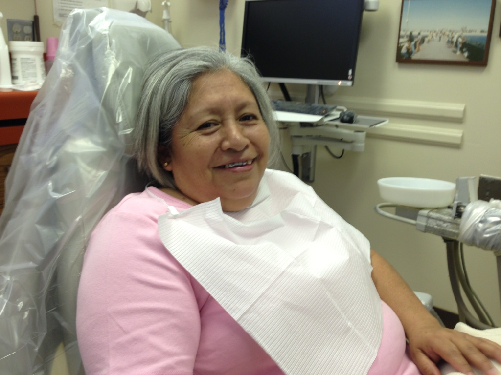 Miriam Martinez has had to have five molars pulled because of decay.