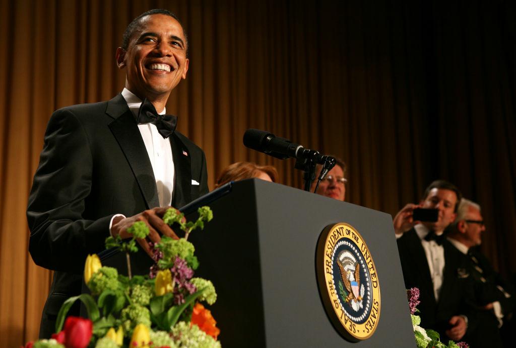 President Barack Obama speaks at the annual White House Correspondent's Association Gala at the Washington Hilton hotel April 30, 2011 in Washington, DC.