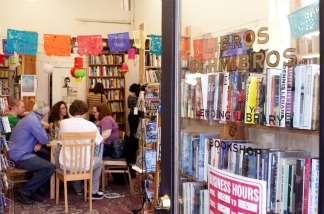 A version of the Boyle Heights book shop Libros Schmibros (seen here) has popped up at the Hammer Museum in Westwood.