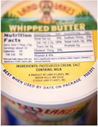 Land O' Lakes whipped butter.