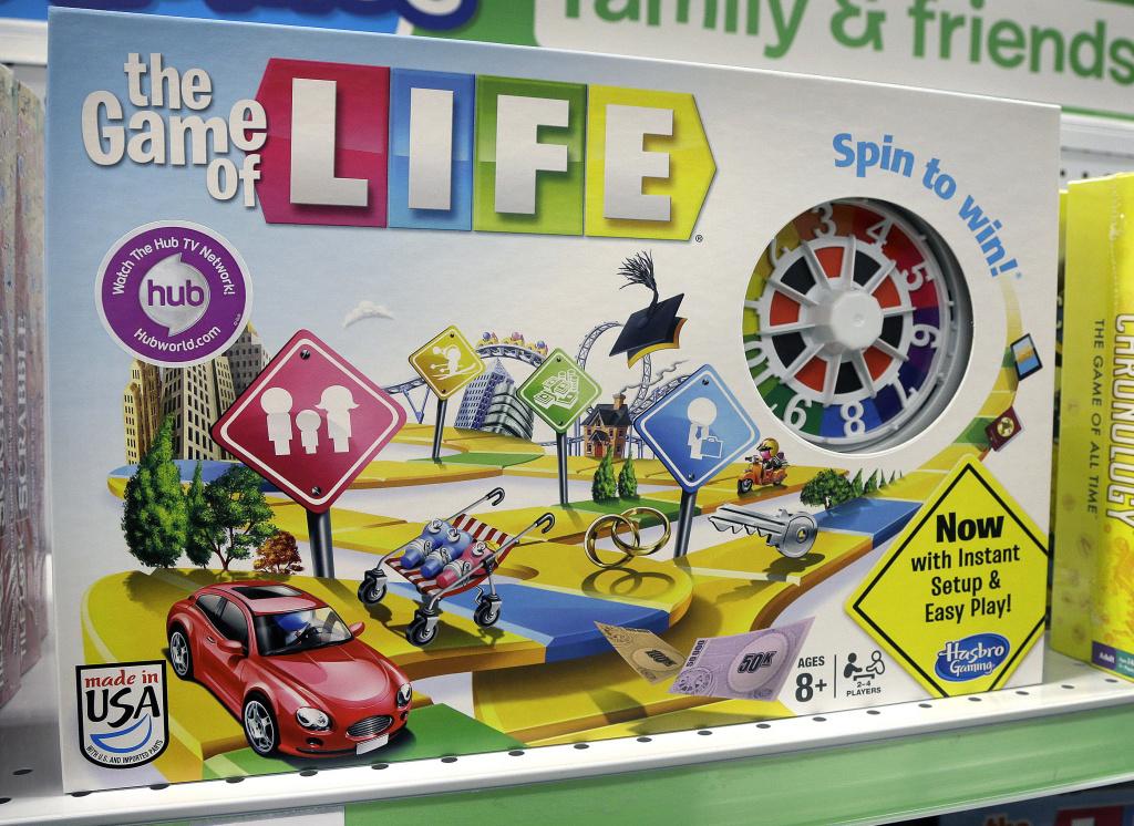 In this Nov. 11, 2015 file photo, the Hasbro board game