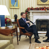 "Morning Edition host Steve Inskeep interviews President Obama in the Oval Office on Dec. 17. Inskeep's new book is called ""Jacksonland"" and it explores a 19th century political battle by focusing on its two principals: President Andrew Jackson and Cherokee chief John Ross."