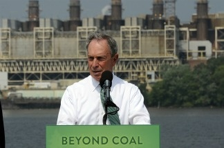 New York Mayor Michael Bloomberg announced his donation of $50 million to the Sierra Club for their 'Beyond Coal Campaign' in Alexandria, Virginia, on July 21, 2011.