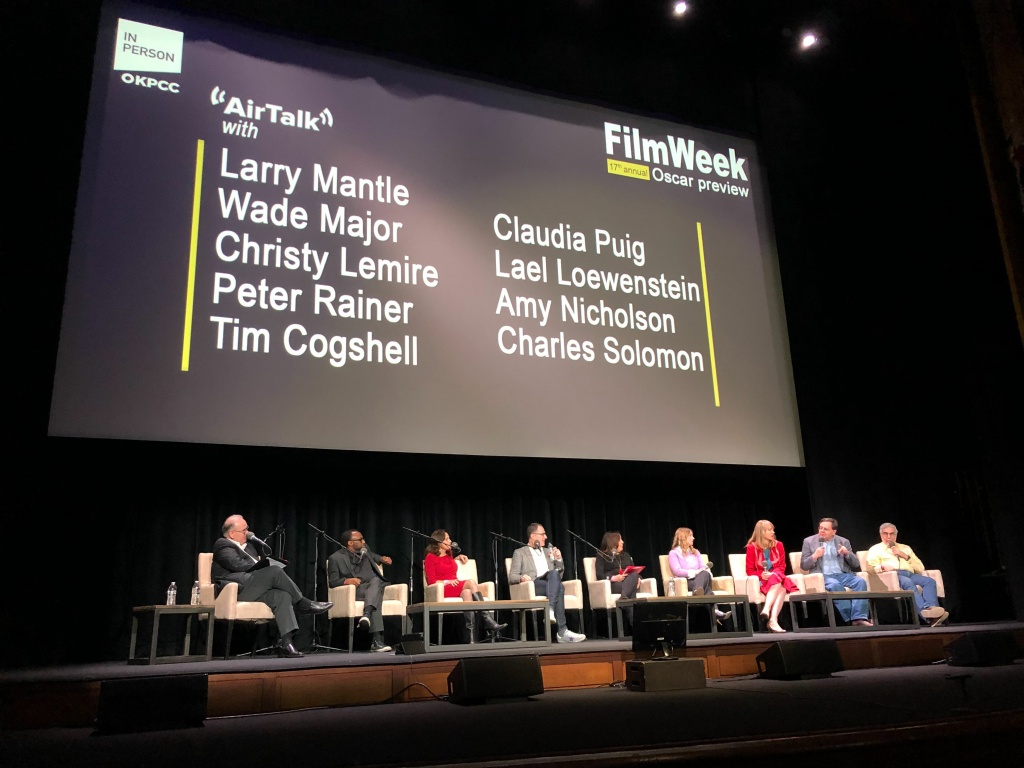 Larry Mantle and the FilmWeek critics at the 17th Annual FilmWeek Academy Awards Preview Show on Sunday, February 17th, 2019 at the Theatre at Ace Hotel in Downtown Los Angeles.