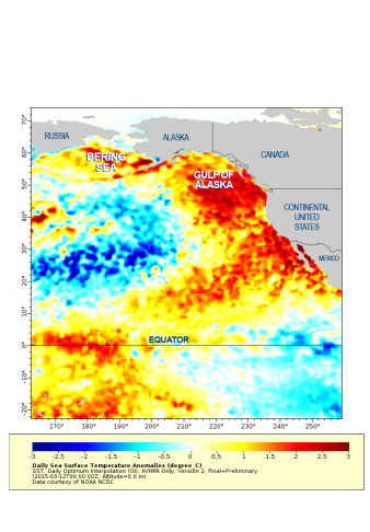 Map of warm water