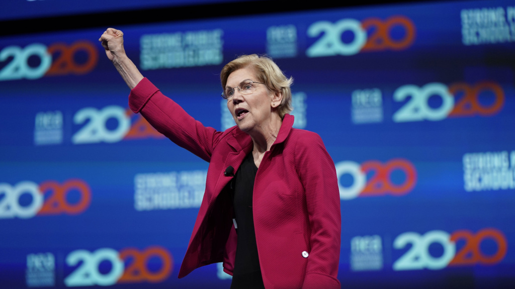 Massachusetts Sen. Elizabeth Warren is the only leading Democratic presidential candidate addressing the Netroots Nation conference on Saturday. The progressive activists there are excited by how many candidates are representing their views in the 2020 campaign.