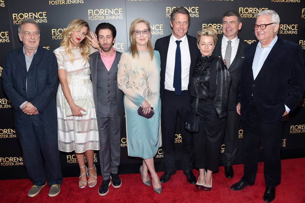 Stephen Frears, Nina Arianda, Simon Helberg, Meryl Streep, Hugh Grant, Tracey Seaward and Nicholas Martin attend the
