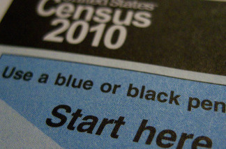 The official US Census form.  The nearly completed 2010 census is ending the fiscal year 22 percent under budget.