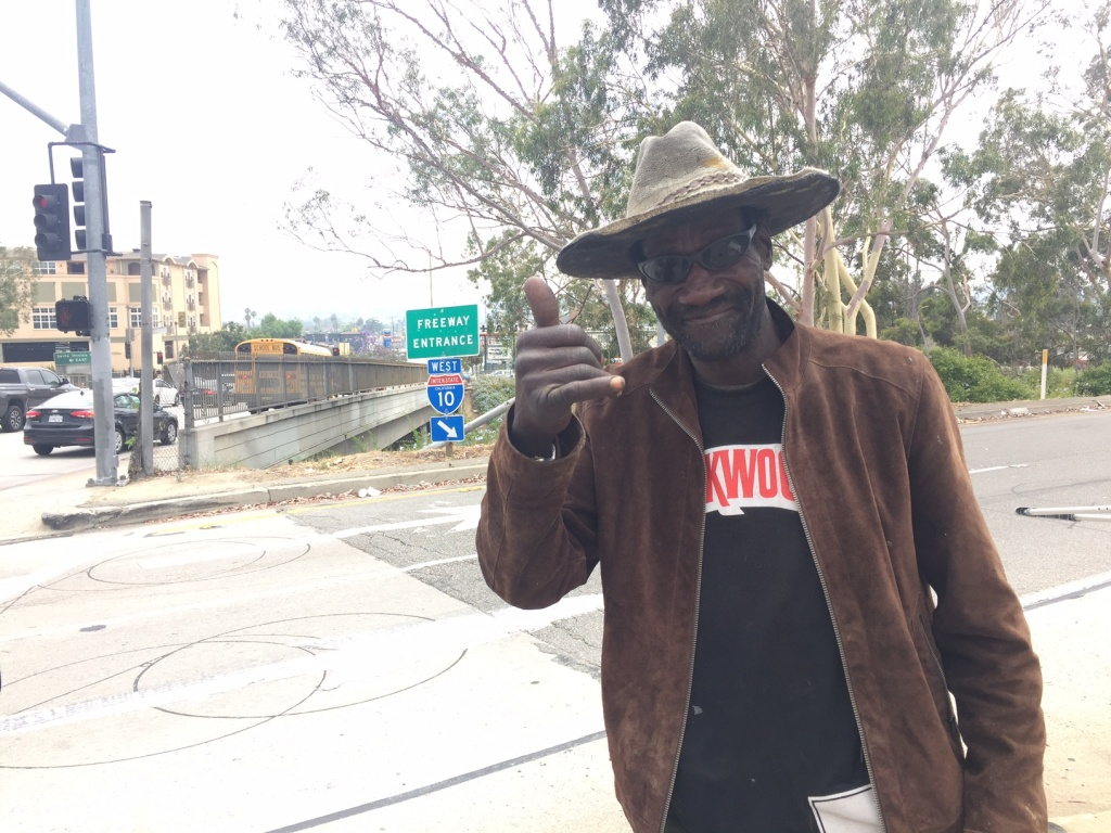 "The ""Crenshaw Cowboy"" can be found everyday on the corner of Crenshaw Boulevard and the i-10 West."
