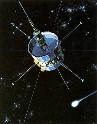 NASA artistic rendering of the ISEE-3 satellite.