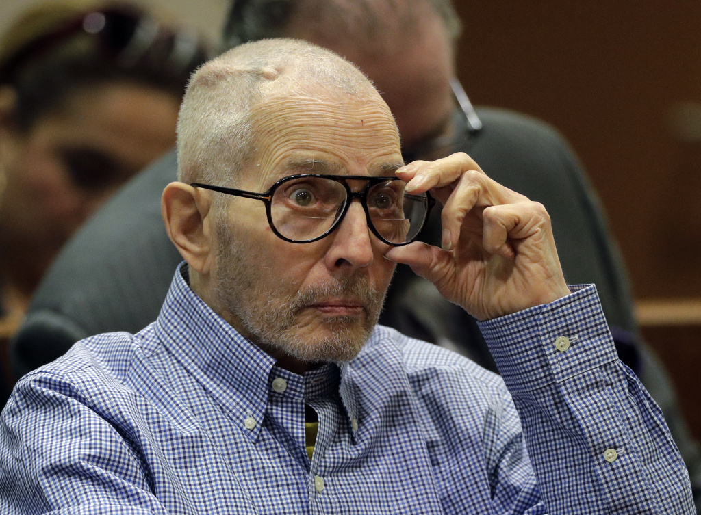 File: Real Estate Heir Robert Durst appears in the Airport Branch of the Los Angeles County Superior Court during a preliminary hearing on December 21, 2016 in Los Angeles, California.