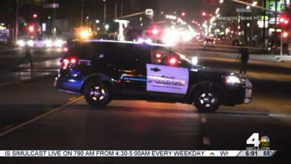 Officers returned fire Thursday after three people shot at their unmarked vehicle. No officers were hurt, but a 17-year-old suspect was hit by police fire.