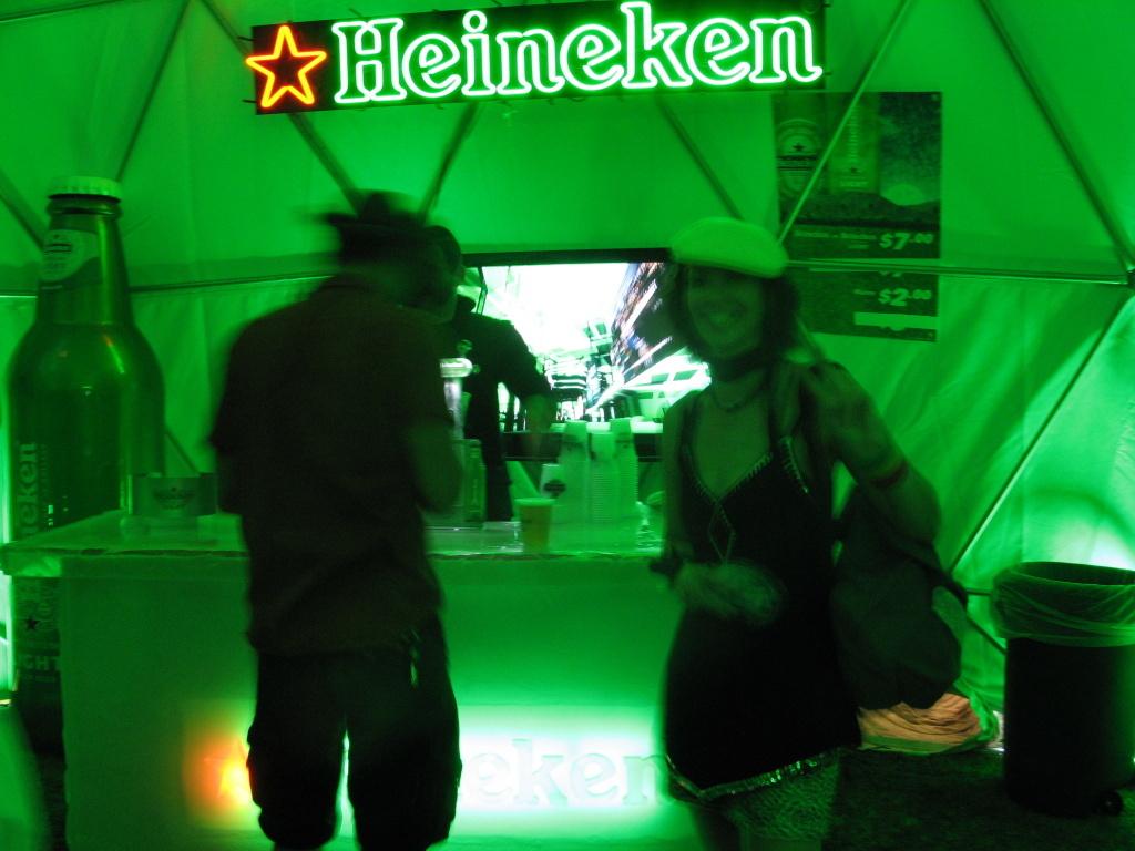 Heineken Cold Storage tent at Coachella.
