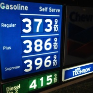 Gasoline prices Jan 9, 2013 Newport Beach, CA