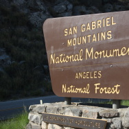 San Gabriel Mountains monument sign