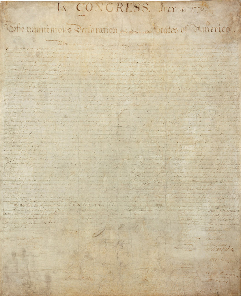 Declaration of Independence, Engrossed copy.