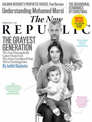 Cover of the Dec. 2012 issue of The New Republic.