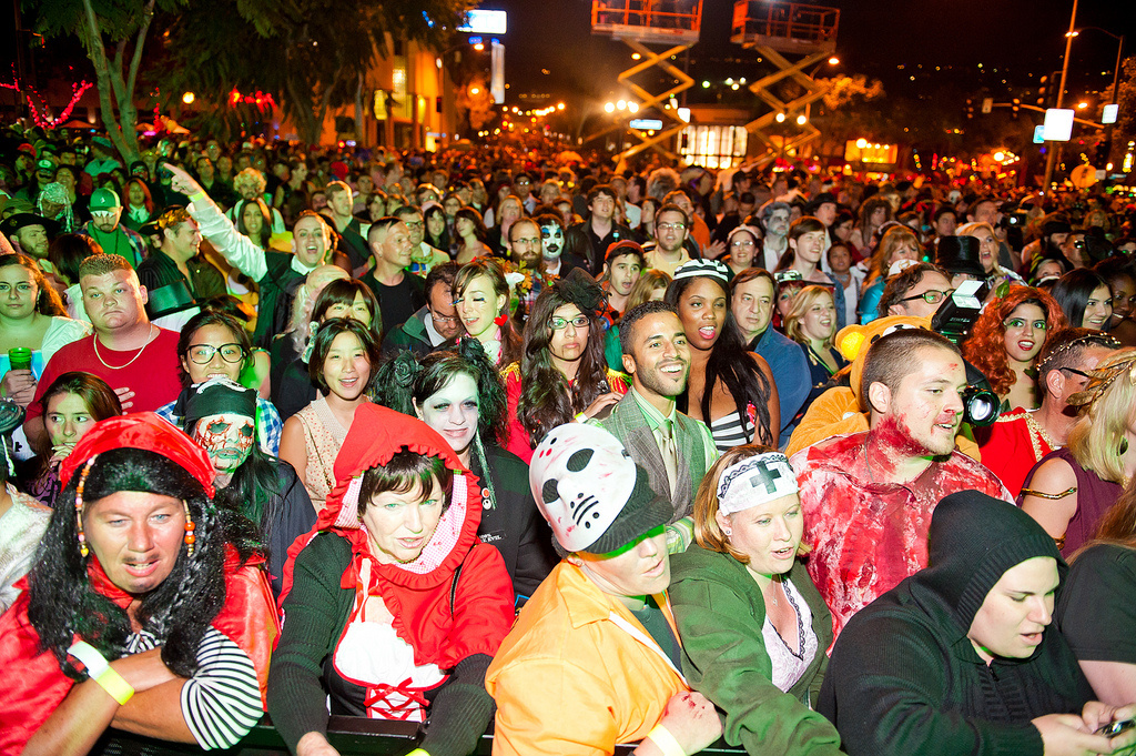 A crowd at the West Hollywood Halloween Carnaval from 2010