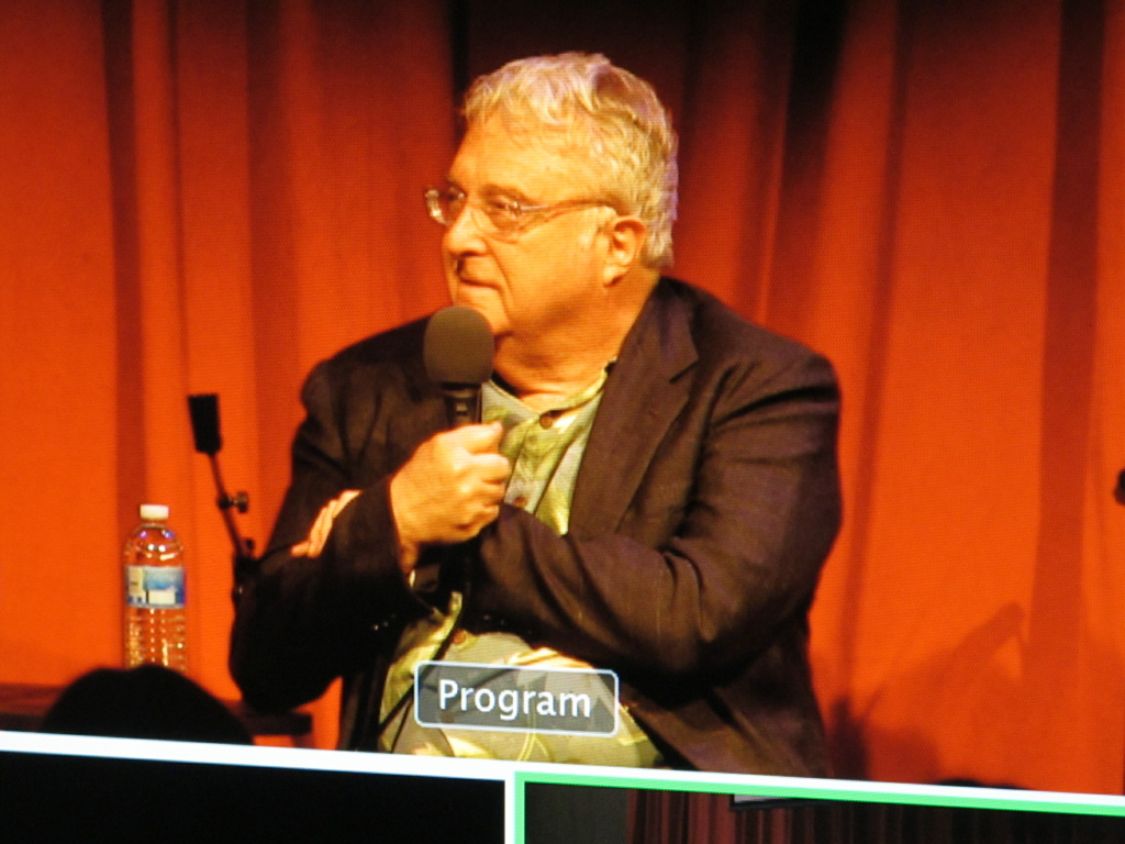 Randy Newman speaking on a KPCC panel about writing music for films.