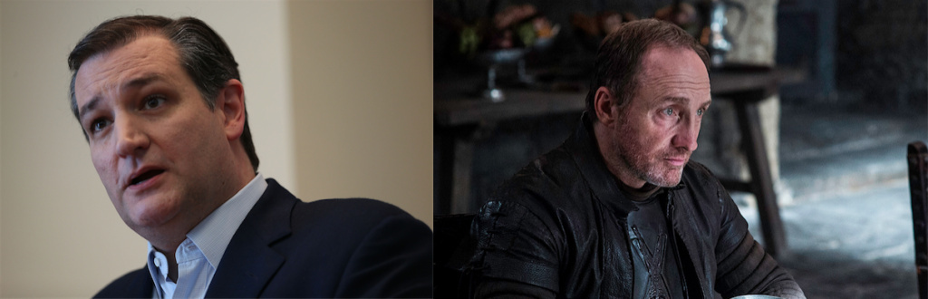 Professor Stephen Dyson compares presidential candidate Ted Cruz to Game of Thrones character Roose Bolton.