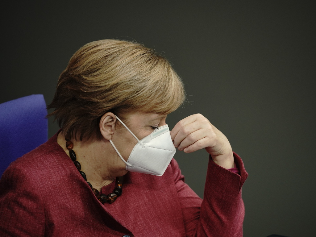 Chancellor Angela Merkel, seen here on Oct. 29, told Germans this week,