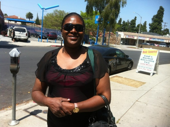 Darlene Collins says she will vote for Obama although she disagrees with his support for same-sex marriages.