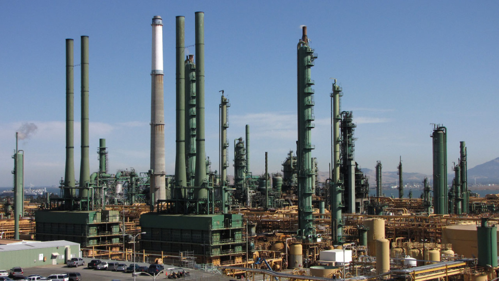 The Valero refinery in Benicia refines about 165,000 barrels of oil a day.