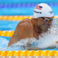 Ryan Lochte of the United States in the Men's 200m Individual Medley heat on Day 5 of the Rio 2016 Olympic Games at the Olympic Aquatics Stadium on August 10, 2016 in Rio de Janeiro, Brazil.